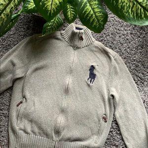Polo Zip-up Turtleneck Sweater